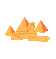 Great sphinx and giza pyramid complex isolated vector