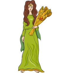 greek goddess demeter cartoon vector image