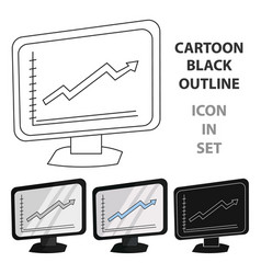 growing graphic icon in cartoon style isolated on vector image