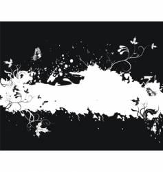 grunge floral border vector image vector image