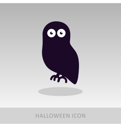 Halloween owl icon vector image
