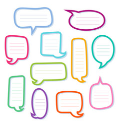 Hand drawn outline speech bubbles dialogs boxes vector