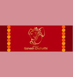 happy ganesh chaturthi mahotsav hindu festival vector image