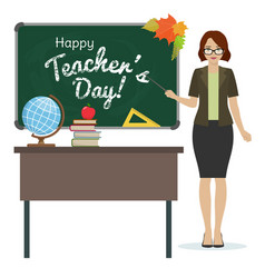 happy teacher day vector image