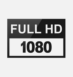 high definition resolution sign vector image