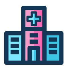 hospital medical icon filled line pink blue color vector image