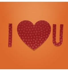 encrypted romantic message - i love you too vector image