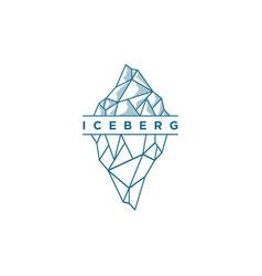 iceberg logo design template vector image