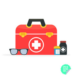 In a modern flat style health vector