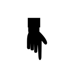 index finger pointing down isolated on white vector image