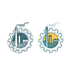 industry industrial enterprise factory logo or vector image
