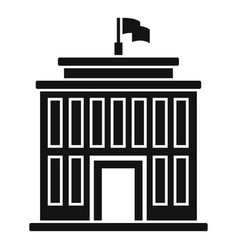 Institute building icon simple style vector