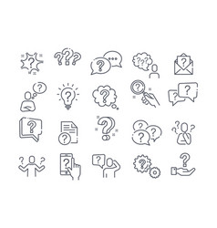 Large set question query or confusion icons vector
