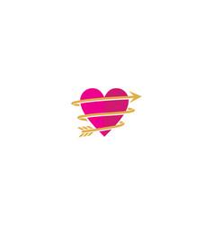love cupid logo icon vector image