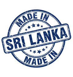Made in sri lanka blue grunge round stamp vector