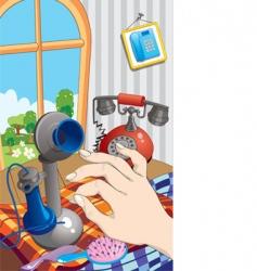 Mansion phones vector