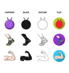Men torso gymnastic gloves jumping ball vector