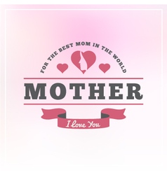 Mothers Day Badges and Labels vector image