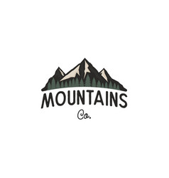mountains logo design template mountains vector image
