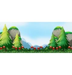 Mushroom and field vector image