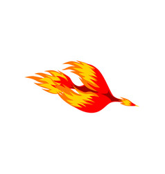 Mythical phoenix fire bird vector