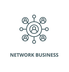 network business line icon linear concept vector image