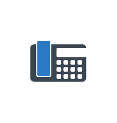 office phone related glyph icon vector image