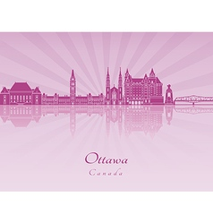 Ottawa V2 skyline in purple radiant orchid vector
