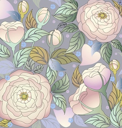 pattern roses2 vector image