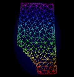 Polygonal 2d rainbow mesh map of alberta vector
