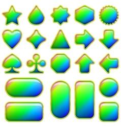 Rainbow glass buttons set vector