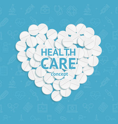 realistic detailed 3d health care concept medical vector image