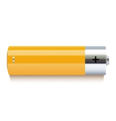 Realistic yellow battery icon vector image