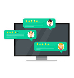 Review rating bubble speeches vector