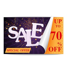 Sale coupon background vector