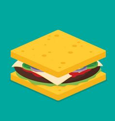 sandwich isometric style vector image