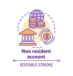 Savings concept icon non resident account idea vector