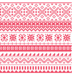 Scottish fair isle style knit pattern vector