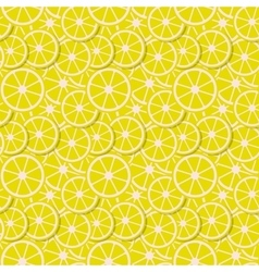 seamless background fresh lemon slices in vector image