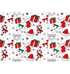 seamless pattern of christmas ornament vector image