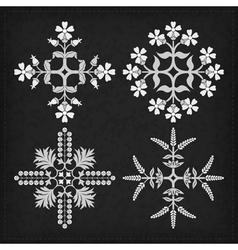 set decorative ornament elements vector image