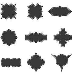 Set of banners in dark style templates vector image