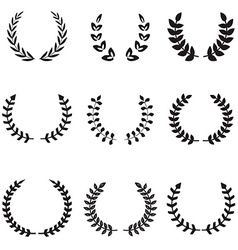 Set of different wreaths Wreaths icons vector image