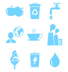 set of icons in save environment concept vector image