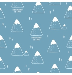 Simple seamless pattern with mountains vector image