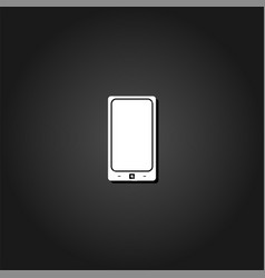 Smartphone icon flat vector