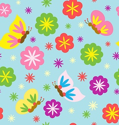 Spring Blooming Pattern vector image