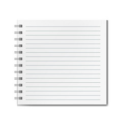 Square realistic lined notebook mockup vector