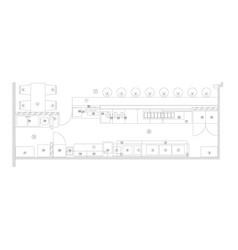 Standard furniture symbols used in architecture vector