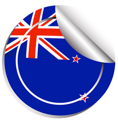 Sticker design for flag of new zealand vector